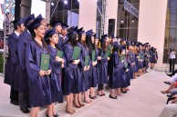 "The graduates of Baku Branch of Lomonosov Moscow State University taking ""The Graduate's Oath"""