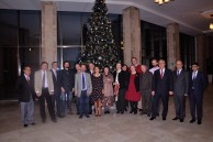 Head of Baku Branch of Lomonosov MSU Professor N.A. Pashayeva with the teachers at New Year Party