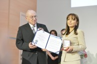 "Ceremonial presentation of the Gold Order ""For Services"" in European Chamber of Trade, Commerce and Industry EEIG to Head of Baku Branch of Lomonosov MSU Professor N.A. Pashayeva"