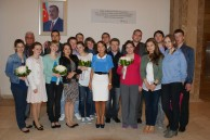 Head of Baku Branch of Lomonosov Moscow State University Professor N.A. Pashayeva with the students of History Faculty of MSU